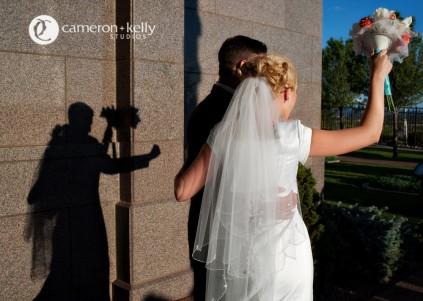 saving money on a wedding dress, photo by Cameron + Kelly Studios for weddinglds.com