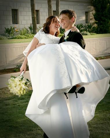 Modest wedding dresses for LDS brides