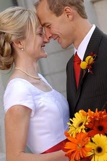 Orange and Yellow Wedding Flowers