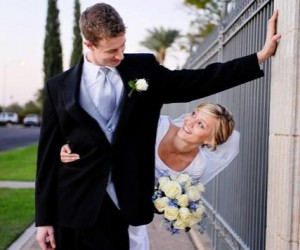 LDS groom and his bride