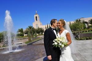 LDS Temple wedding, LDS bride, LDS groom
