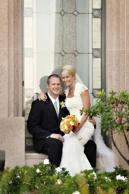 LDS bride, LDS groom, LDS Temple wedding