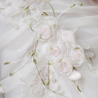 Types Of Wedding Dress Embellishments Fabric Rosettes