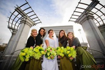 Green Wedding Flowers for LDS weddings