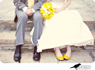 the right sized heel wedding shoe