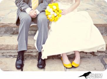 the right sized heel wedding shoe