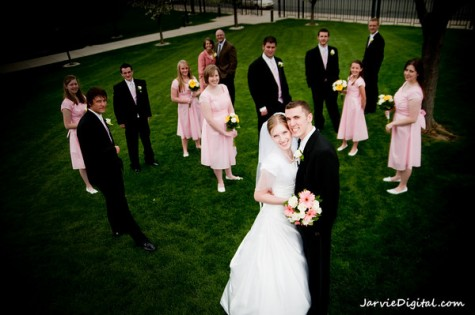 Attendants for LDS brides and grooms, photo by JarvieDigital.com, weddinglds.com