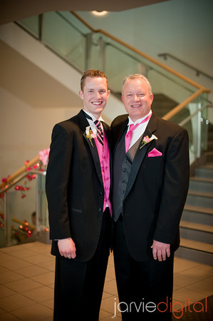 An LDS groom with his father