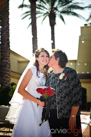 An LDS bride and her mother