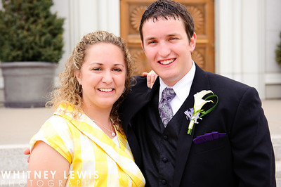 LDS groom and his mother
