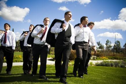 LDS groomsmen, photo by Amelia Lyon photography, WeddingLDS.com