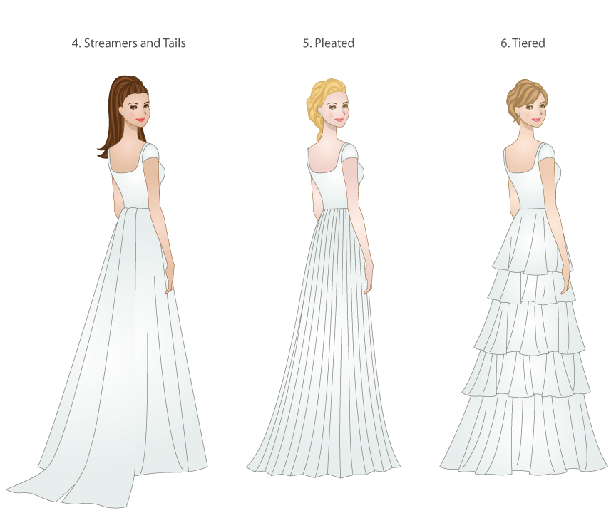 Skirt Types For Modest Wedding Gowns Modeled By