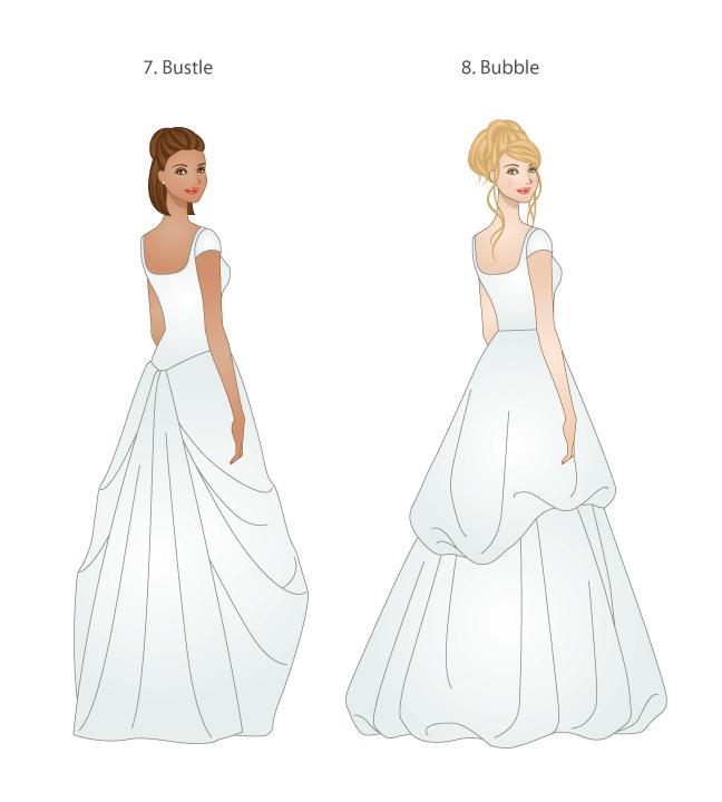skirt types for modest wedding dresses modeled by