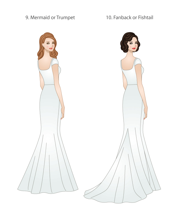 Skirt Types For Modest Wedding Dresses Modeled By WeddingLDSs Signature Brides