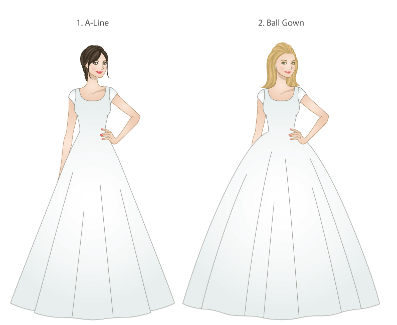 The 5 Basic Wedding Dress Shapes – LDS Wedding Planner