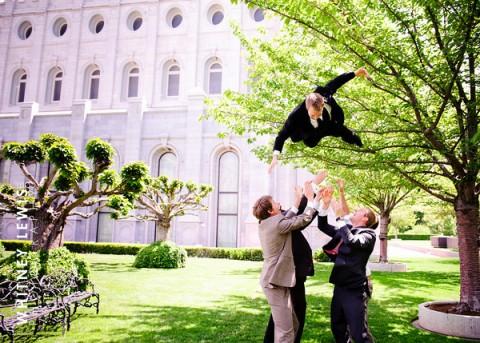LDS groom and groomsmen