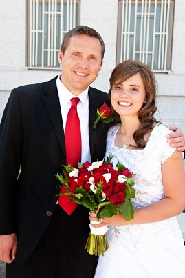 LDS bride and her dad