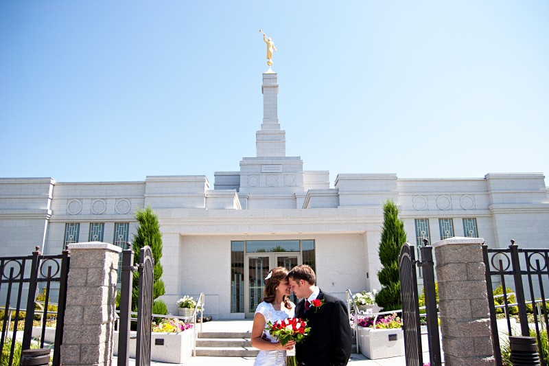 LDS Bride and LDS Groom
