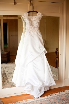 LDS wedding gown