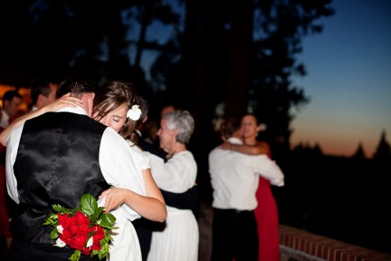 LDS bride and groom dance