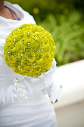 An LDS bride's bouquet