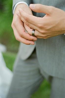 LDS groom's wedding rings