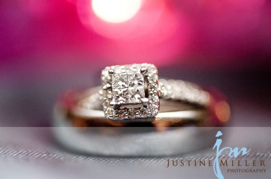 LDS wedding ring, bezel setting