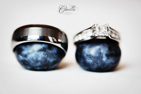 LDS wedding ring with a tension setting