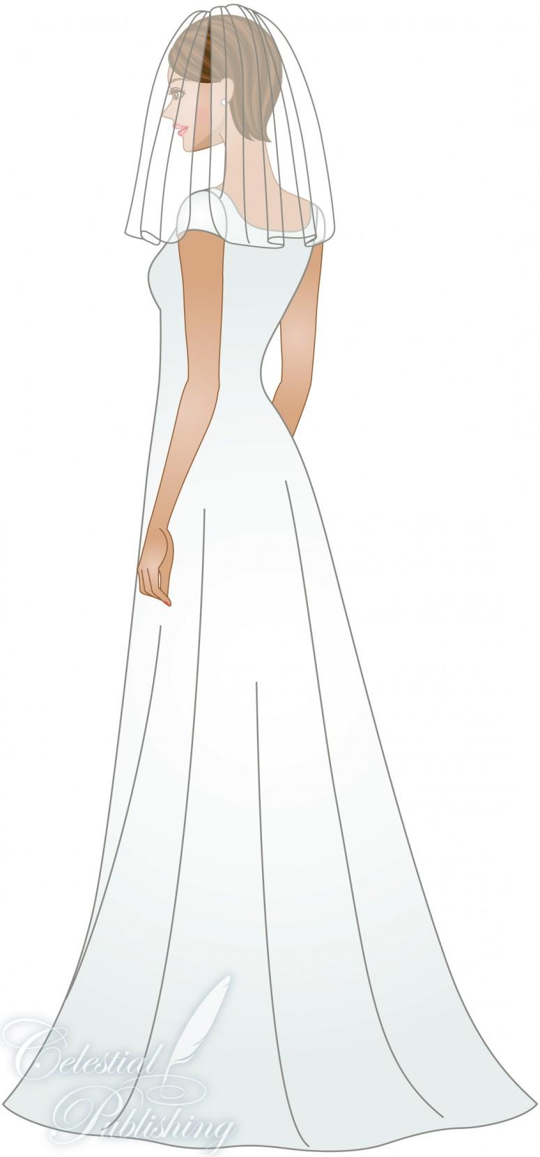 Modest Wedding Dresses, LDS temple weddings, WeddingLDS.com's signature bride modeling blusher veil