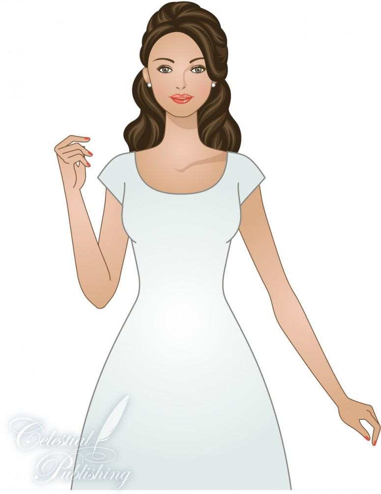 Modest Wedding Dresses, LDS temple weddings, WeddingLDS.com's signature bride modeling set-in sleeve