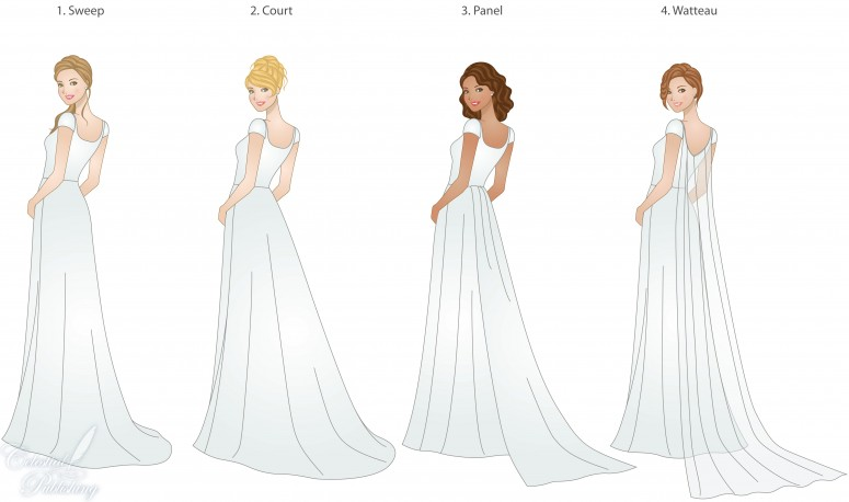 Train Types Styles And Lengths Modeled By Weddinglds S Signature Brides