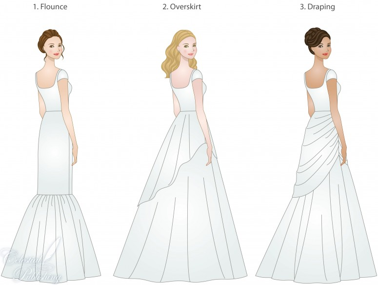 Wedding Dress Skirt Types Shapes Overlays And Textures Lds
