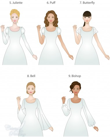 Modest Wedding Dresses Sleeve Types And Lengths Lds