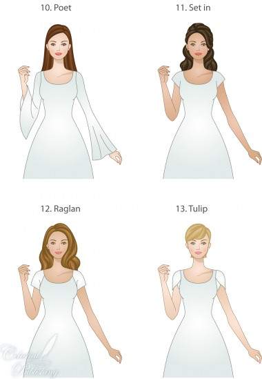 Sleeve types for modest wedding dresses, WeddingLDS.com signature brides