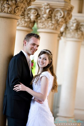 LDS bride and groom, LDS wedding, featured LDS wedding