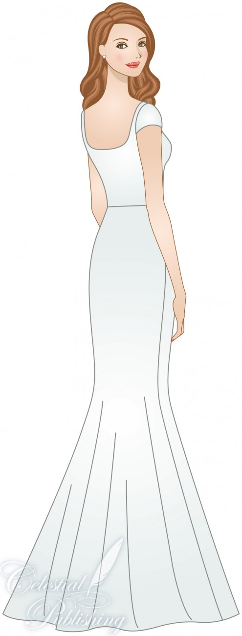 Modest Wedding Dresses, LDS temple weddings, WeddingLDS.com's signature bride modeling a mermaid or trumpet skirt