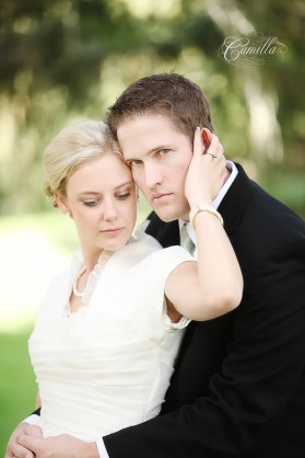 An LDS bride and groom, featured wedding LDS