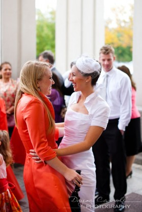 LDS bride with made of honor