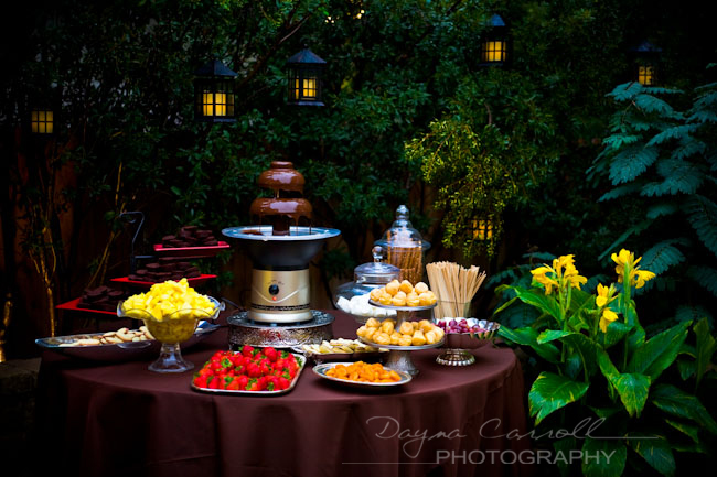 Featured Real LDS Wedding Reception, Chocolate Fountain Table