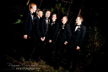 LDS Groom with Groomsmen, Real Mormon wedding