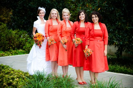 LDS bride with bridesmaids, WeddingLDS.com