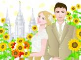 LDS bride, LDS Groom