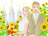 Blond bride, Blond groom