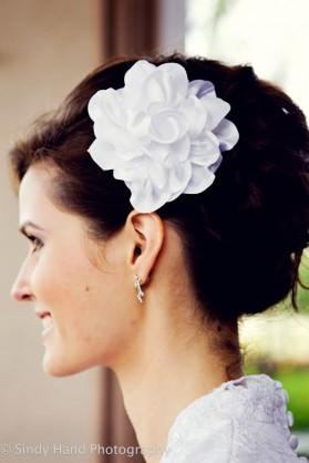 LDS bride's hair flower accessorie