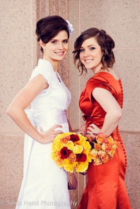 LDS bride and Maid of Honor, LDS wedding, featured LDS wedding
