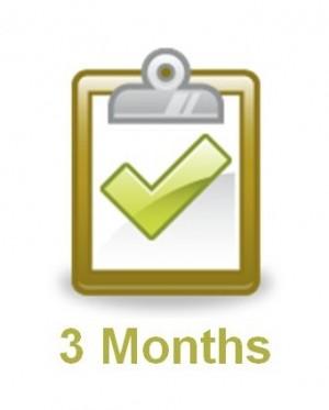 Three Month Planning Checklist from WeddingLDS.com