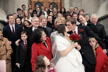 Real Mormon wedding