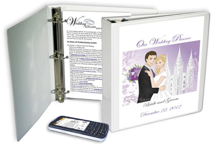 An Example Of A Custom LDS Wedding Planning Notebook For Brides And Grooms From WeddingLDS