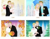 beautiful covers for an LDS wedding planner from WeddingLDS.com