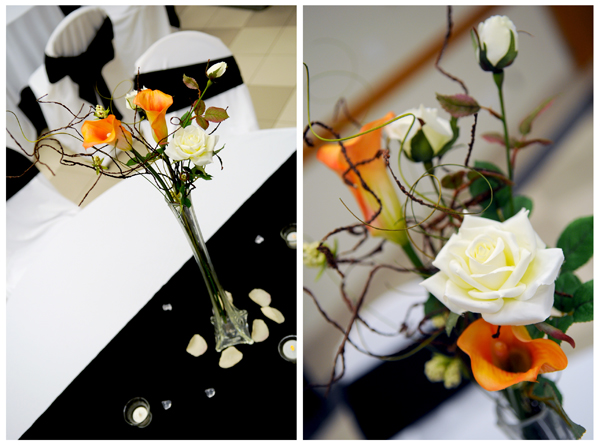 Reception Table center pieces, Featured Real LDS Wedding